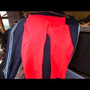 Champion Leggings Cropped Orange Pant Size Small